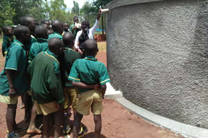 The Water Project: Imbale Primary School -  Tank Care Training