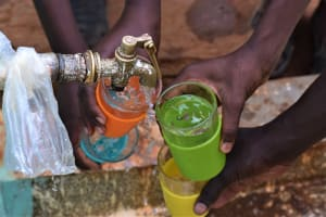 The Water Project: Katalwa Primary School -  Water Flowing