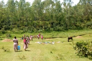 The Water Project: Ivumbu Primary School -  Going To The River