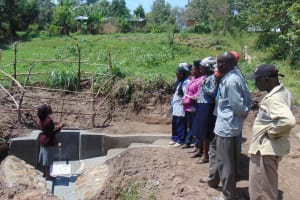 The Water Project: Ivinzo Commuity, Mushianda Spring -  Spring Care Training