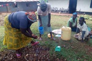 The Water Project: Asimuli Community, John Omusembi Spring -  Handwashing Training