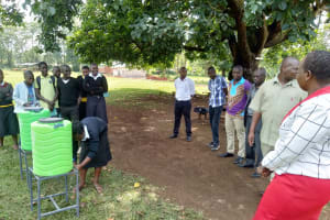 The Water Project: Lwanda Secondary School -  Handwashing Training