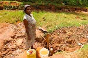 The Water Project: Mutao Community, Kenya Spring -  Josephine Lijodi