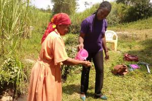 The Water Project: Shirugu Community, Shapaya Mavonga Spring -  Handwashing Training