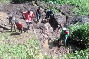 The Water Project: Samisbei Community, Isaac Rutoh Spring -  Spring Excavation