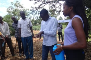 The Water Project: Shitirira Community, Peninah Spring -  Handwashing Training