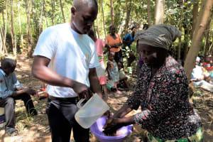 The Water Project: Upper Visiru Community, Wambosani Spring -  Handwashing Training