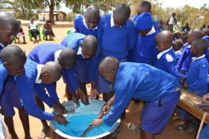 The Water Project: Kyaani Primary School -  Soap Training