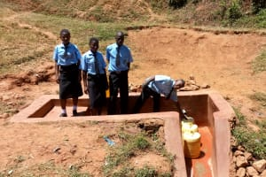 The Water Project: Hombala Secondary School -  Fetching Water