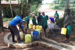 The Water Project: Ebutenje Primary School -  Fetching Water From The Community