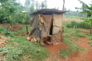 The Water Project: Busichula Community, Marko Spring -  Latrine