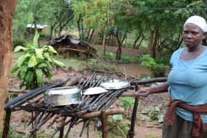 The Water Project: Mwau Community -  Dish Drying Rack