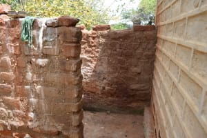 The Water Project: Tulimani Community -  Bathing Shelter