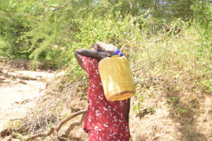 The Water Project: Tulimani Community -  Carrying Water