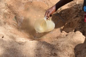 The Water Project: Tulimani Community -  Scoop Hole Water