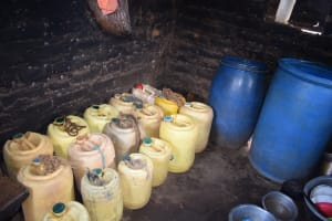 The Water Project: Tulimani Community -  Water Storage Containers
