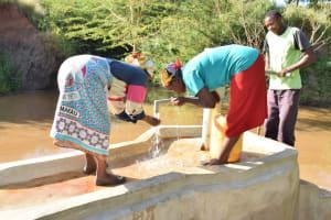 The Water Project: Utuneni Community B -  Fetching Water