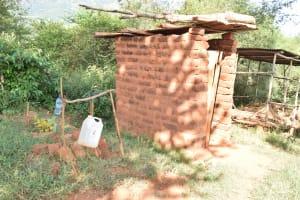 The Water Project: Utuneni Community B -  Latrine And Handwashing Station