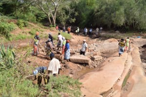 The Water Project: Kala Community B -  Community Members Prepare For Peoject