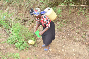 The Water Project: Mbiuni Community -  Carrying Water