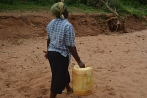 The Water Project: Katovya Community -  Carrying Water