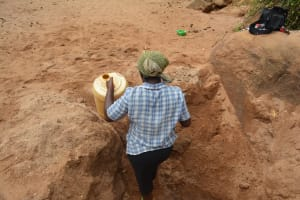 The Water Project: Katovya Community -  Walking Out Of The Scoop Hole