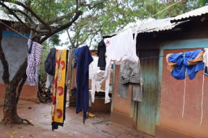 The Water Project: Mwau Community A -  Clothes Hang To Dry