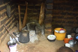 The Water Project: Mwau Community A -  Cooking Area