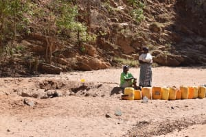 The Water Project: Tulimani Community A -  At The Scoop Hole