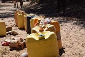 The Water Project: Tulimani Community A -  Line Up Of Conainters To Be Filled