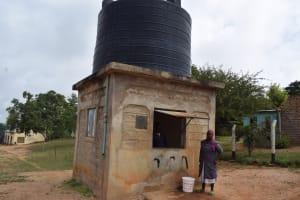 The Water Project: Kathungutu Community A -  Water Kiosk