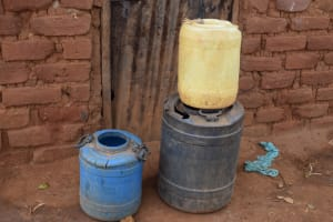The Water Project: Kathungutu Community A -  Water Storage Containers
