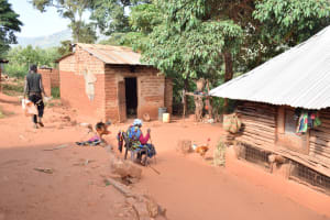 The Water Project: Utuneni Community C -  Family In Compound