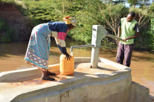 The Water Project: Utuneni Community C -  Fetching Water