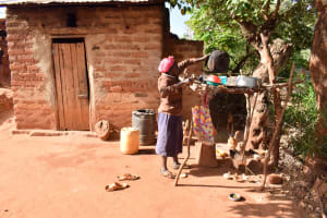 The Water Project: Utuneni Community C -  Kitchen And Dishes Drying
