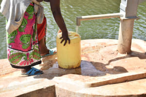 The Water Project: Kala Community C -  Fetching Water