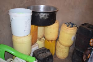 The Water Project: Kala Community C -  Water Storage Containers