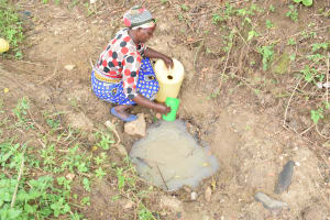 The Water Project: Mbiuni Community A -  Fetching Water
