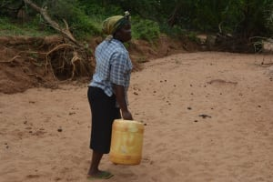 The Water Project: Katovya Community A -  Carrying Water