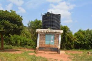 The Water Project: Katovya Community A -  Community Water Kiosk