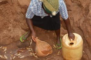 The Water Project: Katovya Community A -  Fetching Water