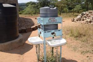 The Water Project: Kyamatula Secondary School -  Handwashing Station