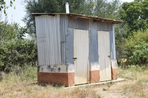 The Water Project: Kyamatula Secondary School -  Staff Latrines