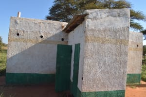 The Water Project: Kituluni Primary School -  Girls Latrines