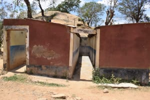 The Water Project: AIC Kyome Girls' Secondary School -  Bathing Area