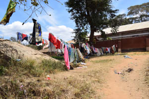 The Water Project: AIC Kyome Girls' Secondary School -  Clothes Hanging To Dry
