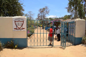 The Water Project: AIC Kyome Girls' Secondary School -  Entrance And Gate