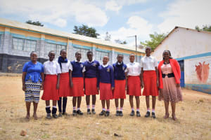 The Water Project: AIC Kyome Girls' Secondary School -  Girls And Teachers Pose Outside