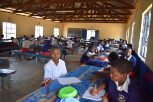 The Water Project: AIC Kyome Girls' Secondary School -  Studying During Lunch
