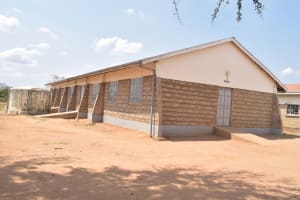 The Water Project: Kalulini Boys' Secondary School -  Dorm And Attached Rainwater Tank
